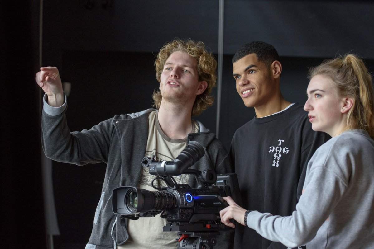 Camera opnames bij Creative College
